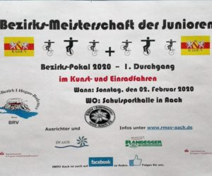 Safe the date! 02.02.20 Bezirkspokal und Bezirksmeisterschaft der Junioren in Aach