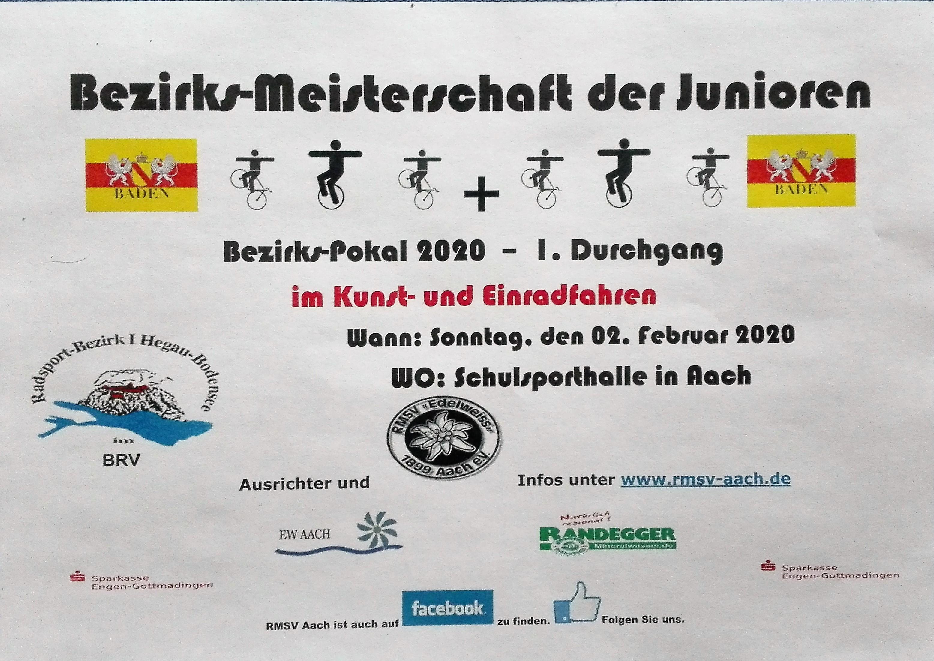 Safe the date! 02.02.20 Bezirkspokal und Bezirksmeisterschaft der Junioren in Aach